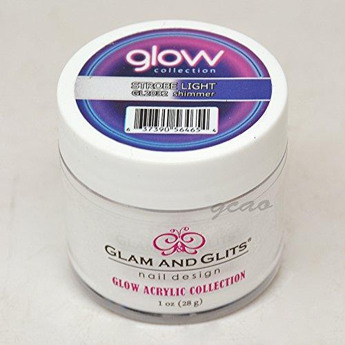 (Glam and Glits ACRYLIC Glow in the Dark Nail Powder - Strobe Light 2032)