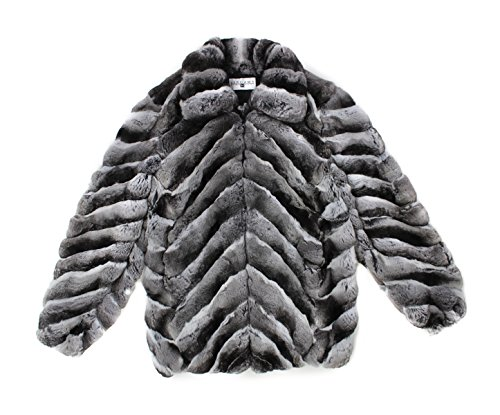 Bergama 812077 New Mens Mans Natural Chinchilla Fur Bomber Jacket Coat Stroller L Chinchilla Coats Men