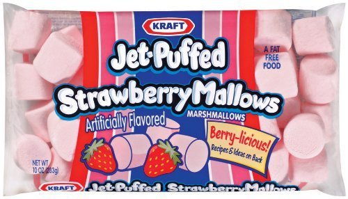 Kraft. Jet-Puffed, Strawberry Marshmallows, 10oz Bag (Pack of (Pink Marshmallows)