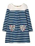 Toddler Little Girl Long Sleeve Tunic Dresses (Navy stripe heart, 3T(For 2-3years))