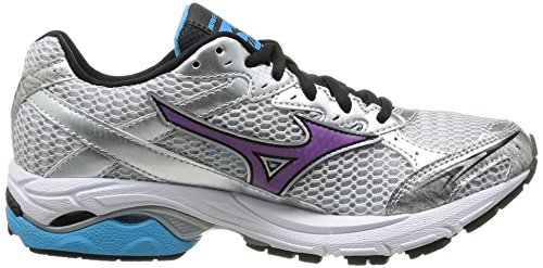 Mizuno Men's Wave Laser 2 W Running Shoes Multicolour Size: White/Dewberry/Aquarius N9wFvemXk
