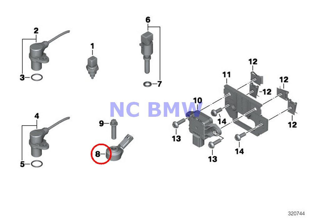 2 X BMW Genuine Motorcycle Cylinder / Sensors Ping Sensor A15 R nine T R1200GS R1200GS Adventure HP2 Enduro HP2 Megamoto R1200RT R900RT R1200R R1200ST HP2 Sport R1200S K1200S K1300S HP4 K1200R K1200