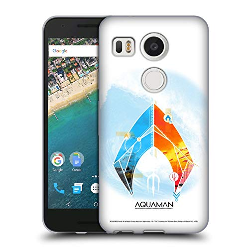 Official Aquaman Movie Trident of Atlan Logo Soft Gel Case Compatible for LG Nexus 5X