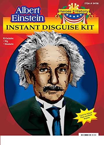 [Heroes in Patriotic History Instant Disguise Set - Albert Einstein] (Women In History Costumes)