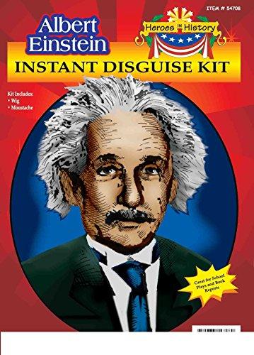Heroes in Patriotic History Instant Disguise Set - Albert Einstein (Einstein Costume Wig)