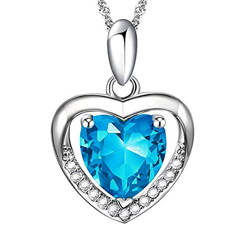 Love-in-a-Heartbeat-Azure-Sterling-Silver-Heart-Pendant-Necklace