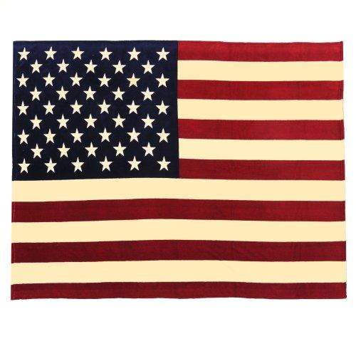 Sleeping Partners Oversized USA Flag Fleece Throw Blanket, V