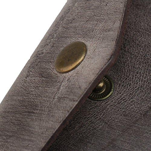 Damenpaket Geldbörse Geldbörse Geldbörse Clip Tasche Tasche Schlüssel Tasche Leder Casual Mode Retro Beige