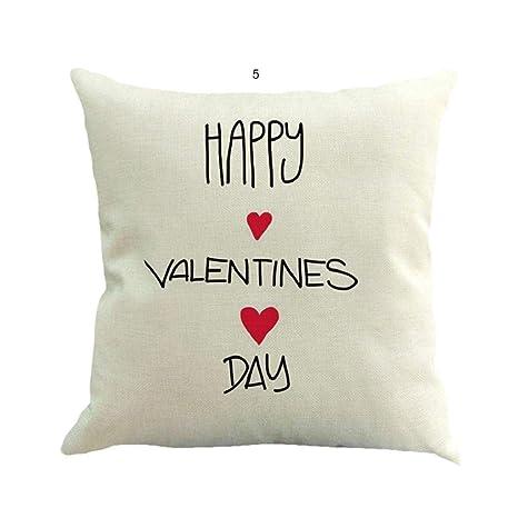 Fundas de Cojines,SHOBDW Regalo de San Valentin Lanzar Funda ...