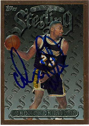 3ff5edb59ff Cedric Ceballos autographed Basketball Card (Los Angeles Lakers) 1996 Topps  Finest Sterling  34