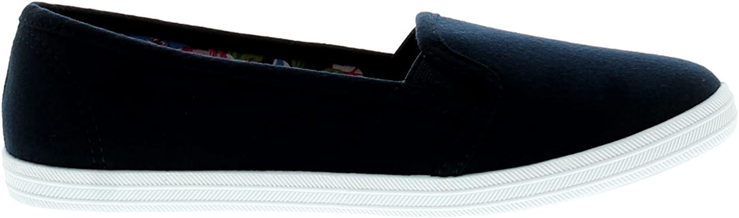 Platino Eleanor Womens Canvas Shoes Navy