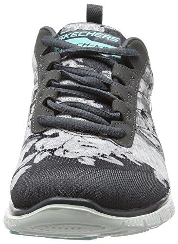 Skechers Damen Flex AppealWildflowers Sneaker Grau (Ccw)