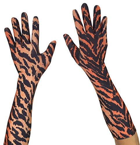Seeksmile Adult Spandex Elbow Length Costume Gloves (Free Size, Tiger)]()
