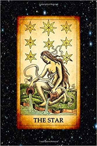 The Star: The Star Vintage Tarot Card 120 Page Lined Journal ...