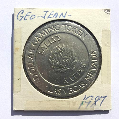 1987 BALLY'S Casino, Las Vegas, Nevada One Dollar Gaming Token (Obsolete Design) $1 Used