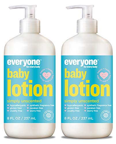 EveryOne Baby Calendula and Oat Lotion (Pack of 2) With Olive Fruit, Sesame Seed Oil, Oat, Mango, Shea Oil, Cocoa Seed Butter, Rice Protein, Aloe Vera, Chamomile and Orange Peel Oil, 8 fl. oz. each