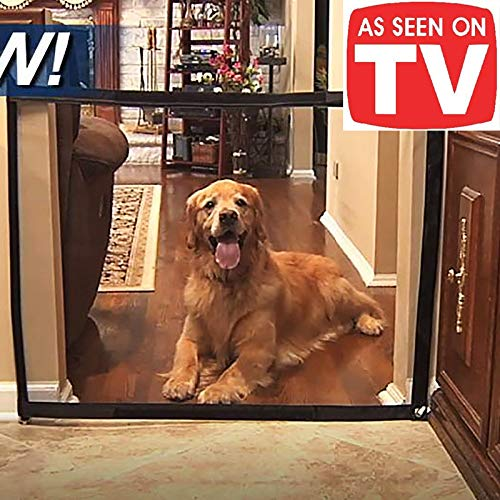 Magic Gate for Dogs,Pet Safety Gate, Portable Folding Guard Safety Enclosure,Baby gate As Seen On TV(W:47.2 in H:29.5 in)