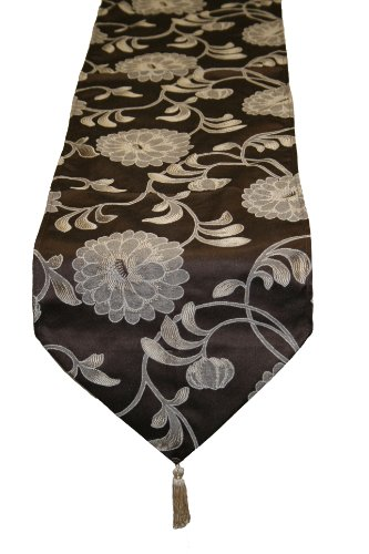 Legacy Damask Design Table Runner Color: - Brown Damask Gift Shopping Results
