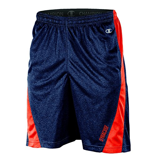 NCAA Syracuse Orange Adult Men Training Short with Contr, X-Large, Navy Heather (Shorts Mens Syracuse)