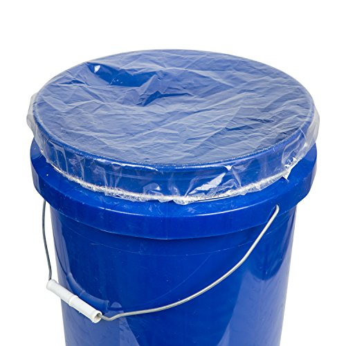 Pail Covers - GOZE Elastic Bucket Lid Cover - Snug fit - Easy slip on/off - 4ml Thick - Made In USA (16 Inch 5 Gal, 25 Pcs)