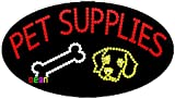 15''x27'' Neon by Deon Animated Pet Supplies LED Sign with Logo w/Flashing Controller