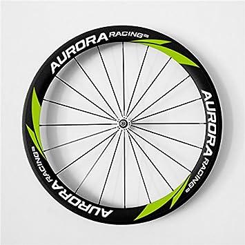 Juego de ruedas de carbono Aurora Racing, de 700 C 50 C - 23 mm, clavijas para bicicleta, para bicicleta de carretera Shimano: Amazon.es: Deportes y aire ...