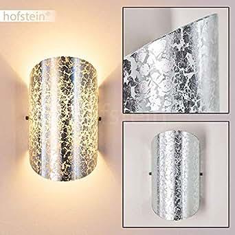 Aplique de pared Teramo color plata - Aplique de salón - Dormitorio - Pasillo