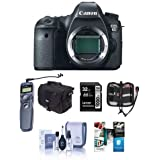Canon EOS-6D Digital SLR Camera Body, 20.2 Megapixel - Bundle - with 32GB SDHC Class 10 Memory Card, Slinger Camera Bag, Cleaning Kit, Card Case, Remote Shutter Trigger, Pro Software Package