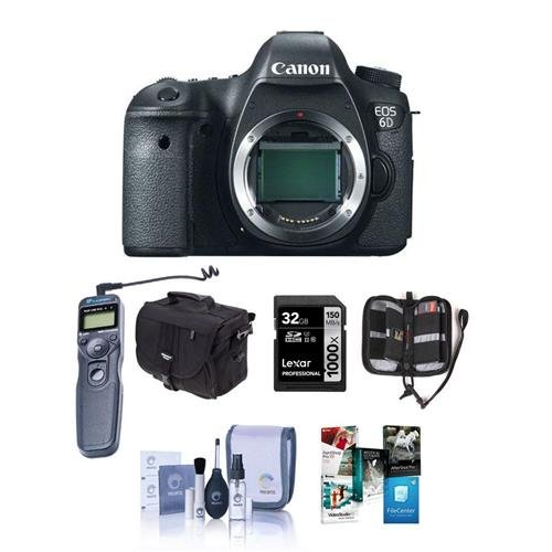 SLR Camera Body, 20.2 Megapixel - Bundle - with 32GB SDHC Class 10 Memory Card, Slinger Camera Bag, Cleaning Kit, Card Case, Remote Shutter Trigger, Pro Software Package (Expandable Media Frame)
