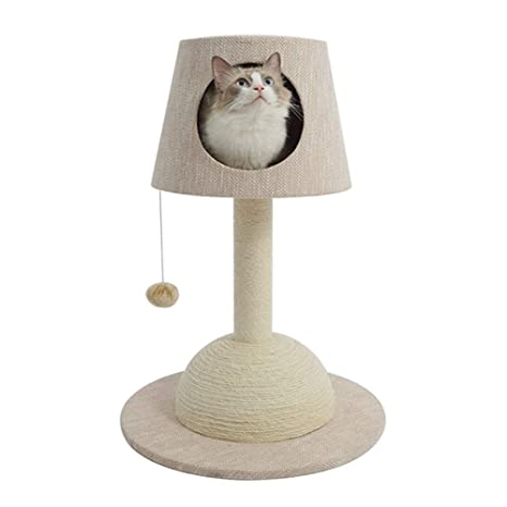 Lámpara De Mesa con Forma De Gato, Tabla para Raspar Gato Mediano Plataforma para Saltar