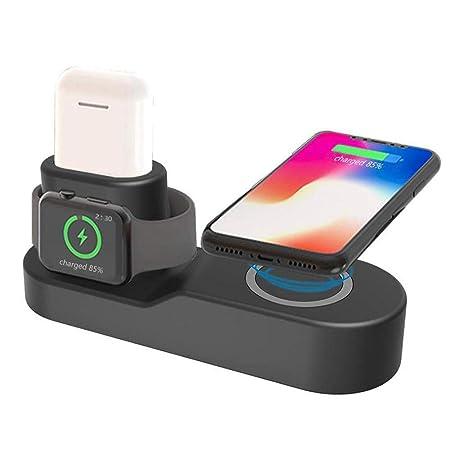 FOONEE Cargador Inalámbrico 4 En 1 para Apple Watch Estación ...