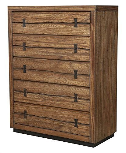 Alpine Furniture 5-Drawer Chest in Tobacco Finish by Alpine Furniture
