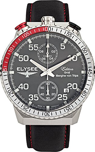 ELYSEE Men's 80516G Graf Berghe von Trips Analog Display Quartz Black Watch