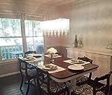 7PM Modern Linear Rectangular Island Dining Room