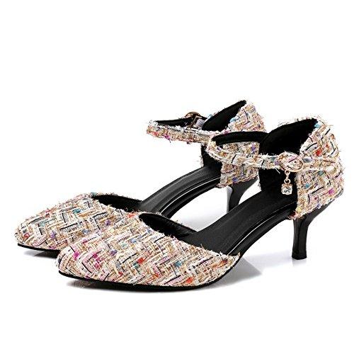 Coolcept Women Fashion Summer Shoes Closed Toe Sandals Apricot hFO6VhVRxp