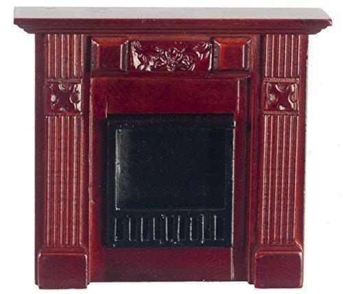 Dollhouse Miniature 1:12 Scale Mahogany Elizabeth Fireplace #T3844