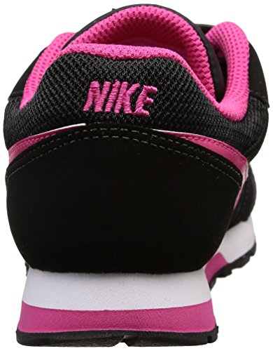 Nike Mädchen MD Runner 2 (PSV) Low-Top Schwarz (Black/Vivid Pink-White)