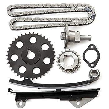 SCITOO 9-4164S Timing Chain Kit Tensioner Crank Sprocket Guide Rail Cam Sprocket Compatible Nissan Pulsar NX Sentra 1.6L SOHC GA16i 89-90