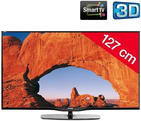 SHARP AQUOS LC-50LE650E - Televisor LED 3D Smart TV: Amazon.es: Electrónica