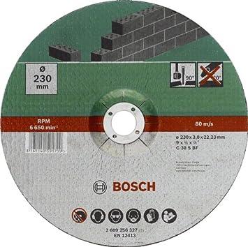 Unterschiedlich Bosch 2609256327 DIY Trennscheibe Stein 230 mm ø x 3 mm gekröpft  TH13