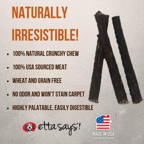 Etta Says! Premium Buffalo 7 Inch Chew - All Natural, Grain Free Dog Treat, Chew, Usa Made