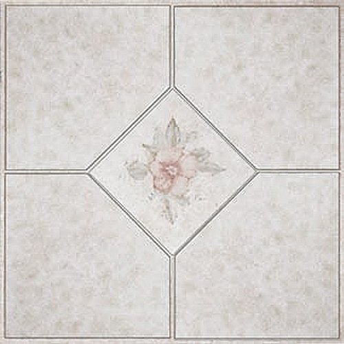 Vinyl Tile 1002 Beige/ Pink 1 Box 30 Square Feet