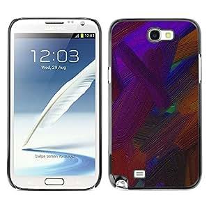 X-ray Impreso colorido protector duro espalda Funda piel de Shell para SAMSUNG Galaxy Note 2 II / N7100 - Vibrant Brown Oil Painting