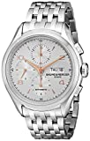 Baume & Mercier Men's BMMOA10130 Clifton Analog Display Swiss Automatic Silver Watch