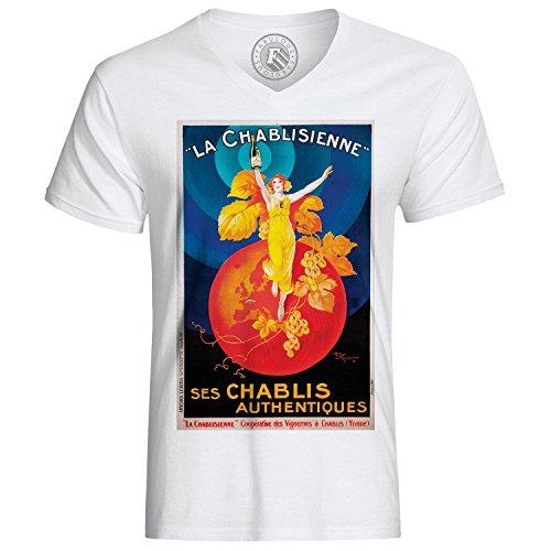 T-Shirt Chablis Chablissienne Retro Vintage Poster Alkohol