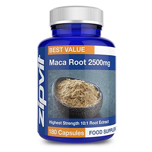 Maca Root Capsules 2500mg | 180 High Strength Maca Root Extract Capsules -...