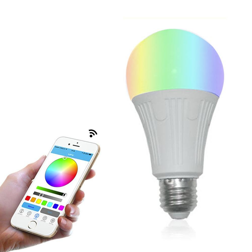 Teepao Wifi Bulb Dimmable, Multicolor Voice Controlled Light Smart Led Bulb Including 16 Million Color Light Work with Amazon Echoã€Echo Dotã€Amazon Tap(50w Equivalent,18 Led Light Beads)