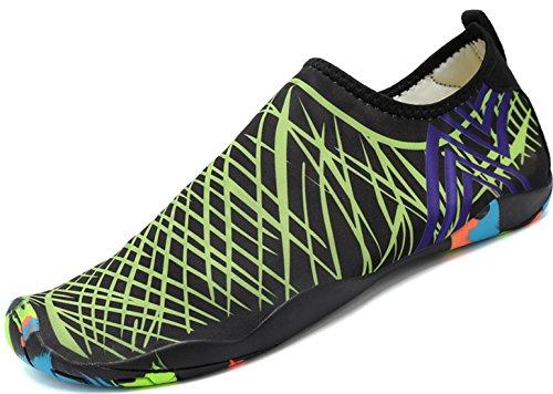 Für Schuhe Badeschuhe Herren Aquaschuhe Grün Unisex Wasserschuhe Schwimmschuhe Damen Atmungsaktiv Rutschfest Weiche Leicht Saguaro Hvqzf5xw