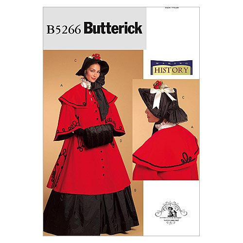 Victorian Sewing Patterns- Dress, Blouse, Hat, Coat, Mens Butterick Making History Pattern 5266 Misses Historical Costume Sizes 16-18-20-22  AT vintagedancer.com