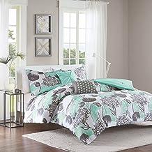 Intelligent Design ID10-729 Marie Comforter Set Twin/Twin X-Large Aqua,Twin/XL